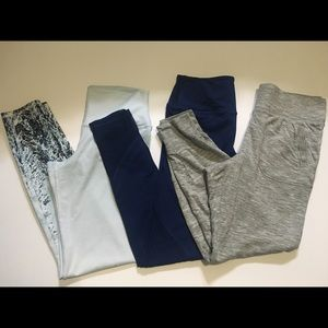 VS Navy Knockout Mesh Leggings